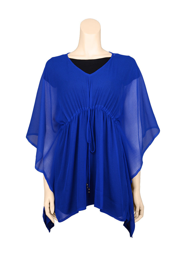 beach cover up chiffon blue