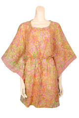 mini dress batik print voile