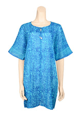 summer dress voile turquoise
