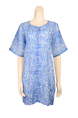short dress caftan style cotton azur