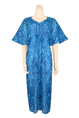 summer dress 3/4 cotton blue