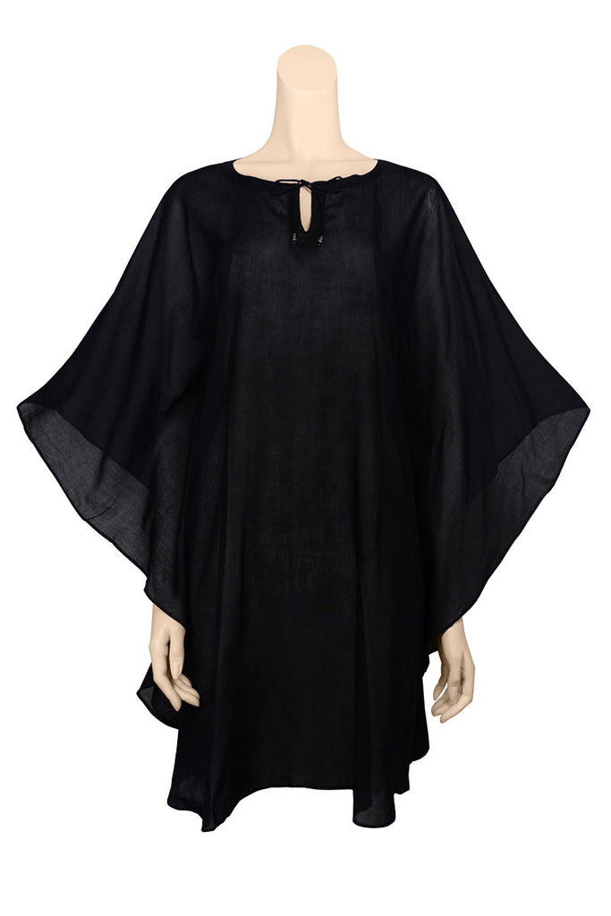 beach cover up cotton black