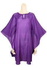 beach cover up voile purple