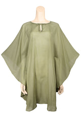 beach cover up cotton green