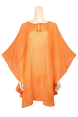 beach cover up voile orange