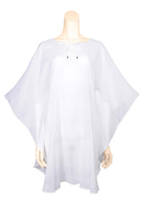 beach cover up cotton white