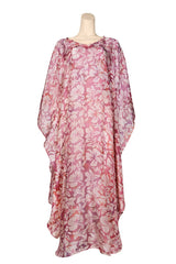 light weight caftan pink