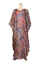 light weight caftan purple