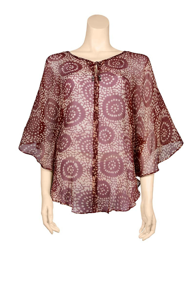 crinkled chiffon caftan earthy color