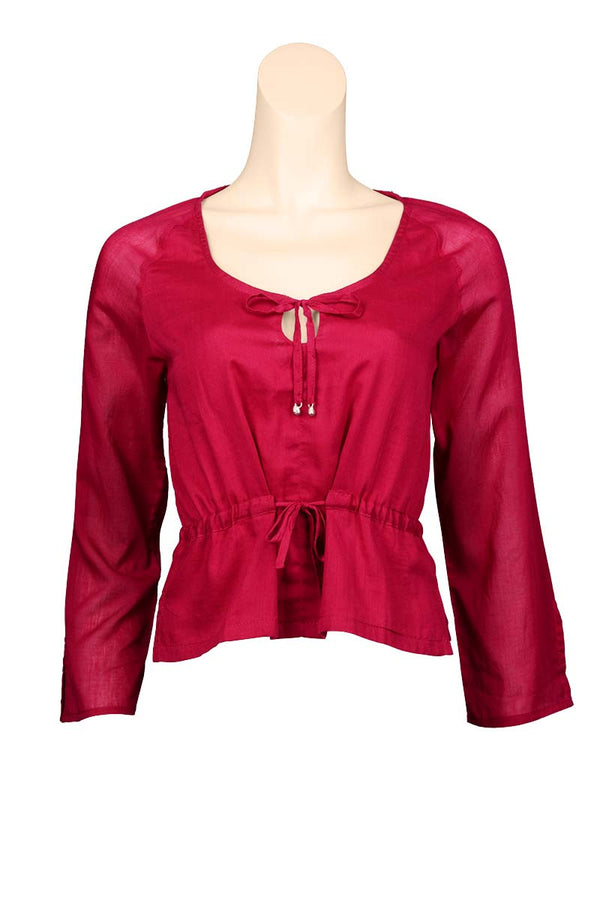 Plain Color Blouse for light summer wear