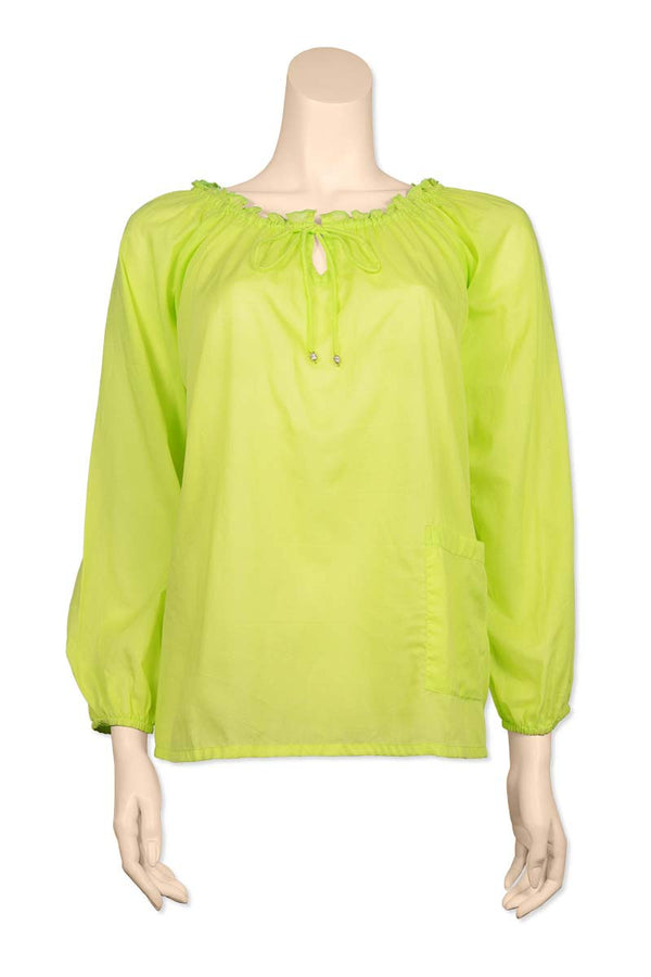 Lime Green raglan sleeve top