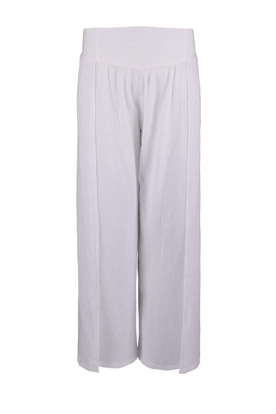 high slit pants, crinkled cotton pants, white pants cotton