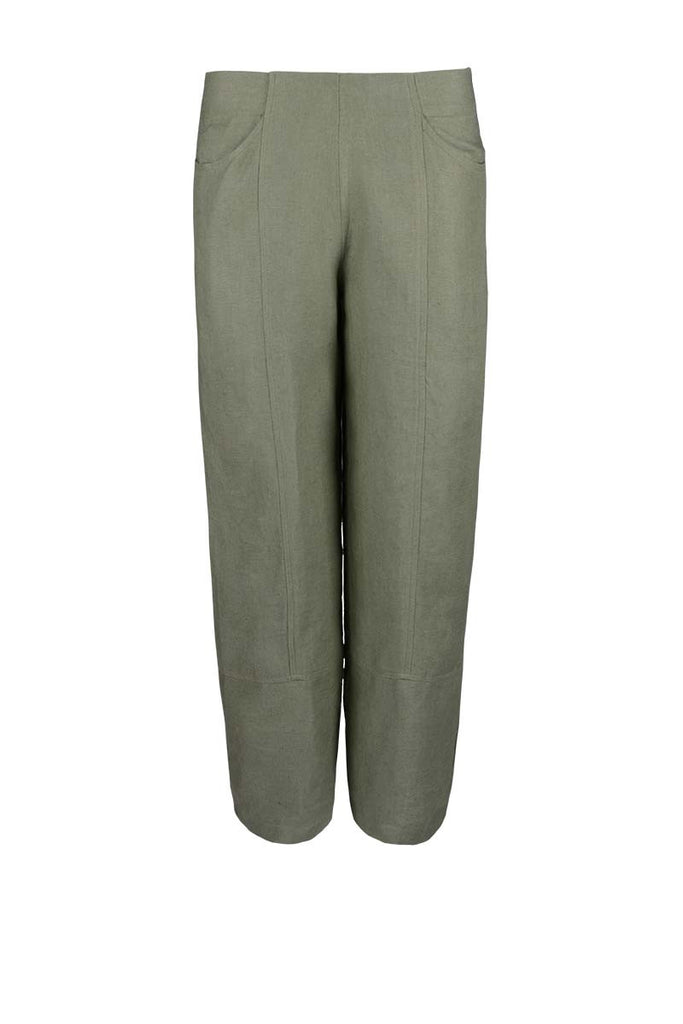 lady's linen trousers, cropped pants linen, casual lady's linen pants