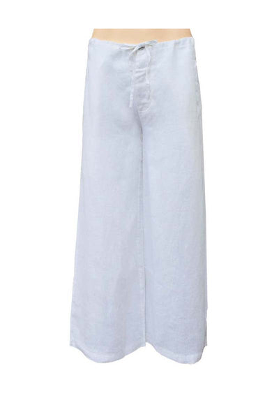 linen white pants, wide legs pants, linen ladies pants