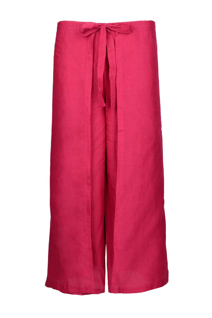 pink sarong pants for the beach, pink cotton pants