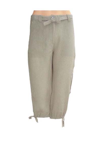 3/4 pants, cropped pants linen, lady's 3/4 pants