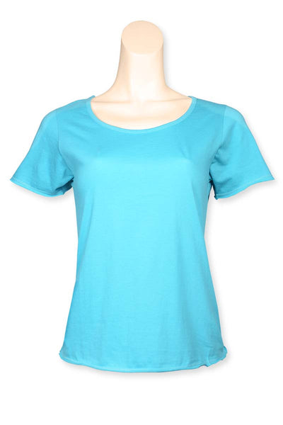 Light Blue - Scoop Neck Tee