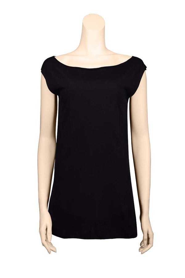 black hip tight sleeveless Tee