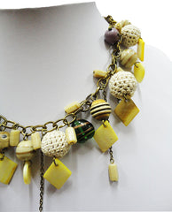 charm necklace with crochet