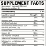 Blood Pressure RX Supplement Facts