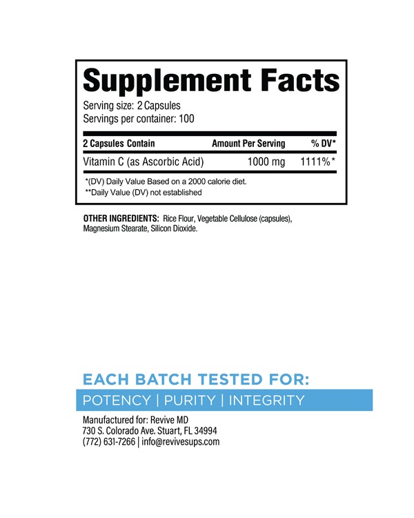 Vitamin C Supplement Facts