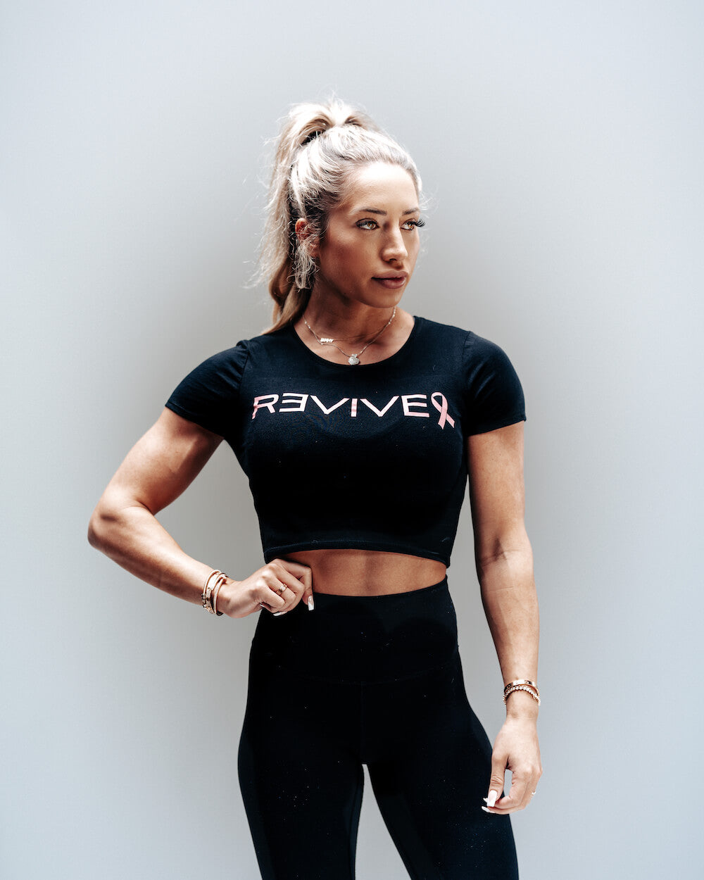 REVIVE Breast Cancer Crop Top