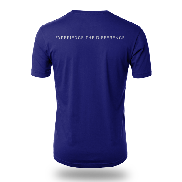 Experience the Difference Shirt in Blue - Back