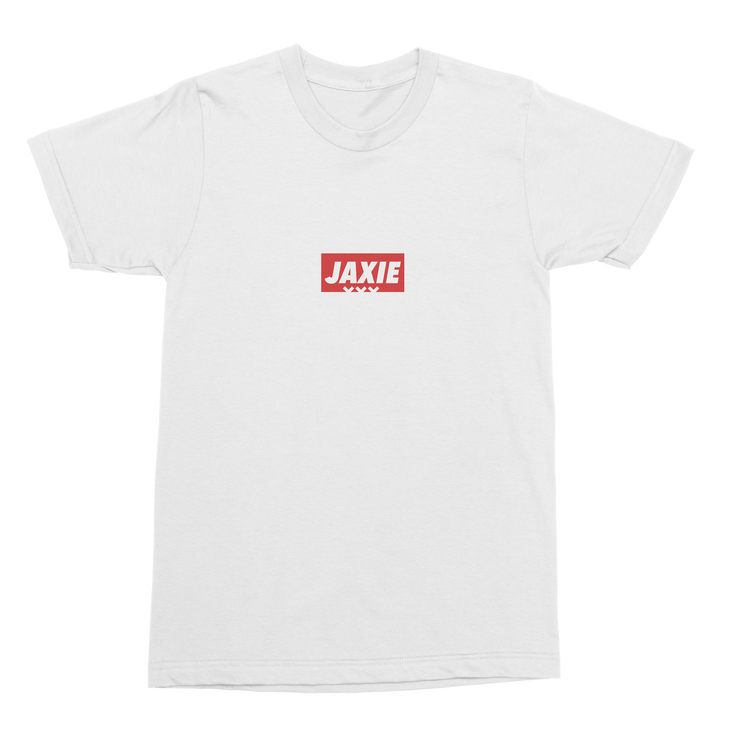 T-SHIRT 'JAXIE LOGO' WIT