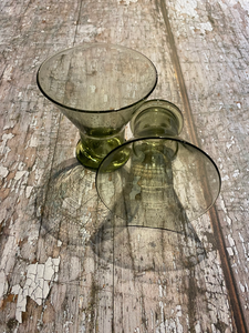 Green Bubble Wine Glass