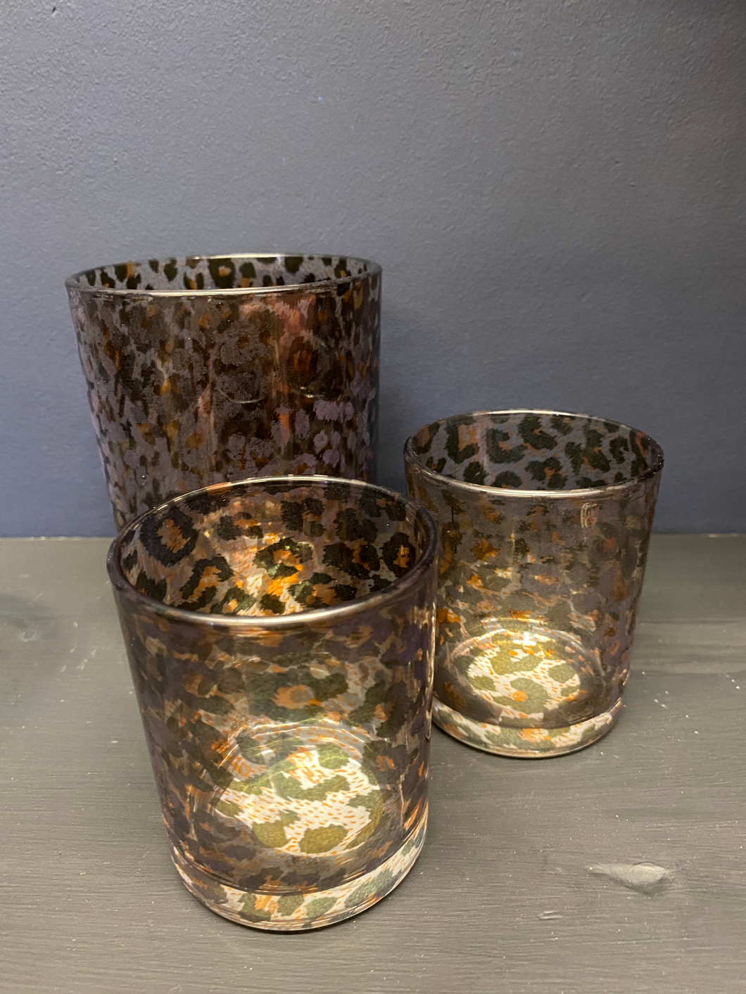 Leopard Print Candle Holder