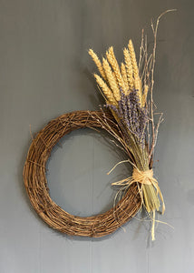 Rustic Lavender & Corn Wreath