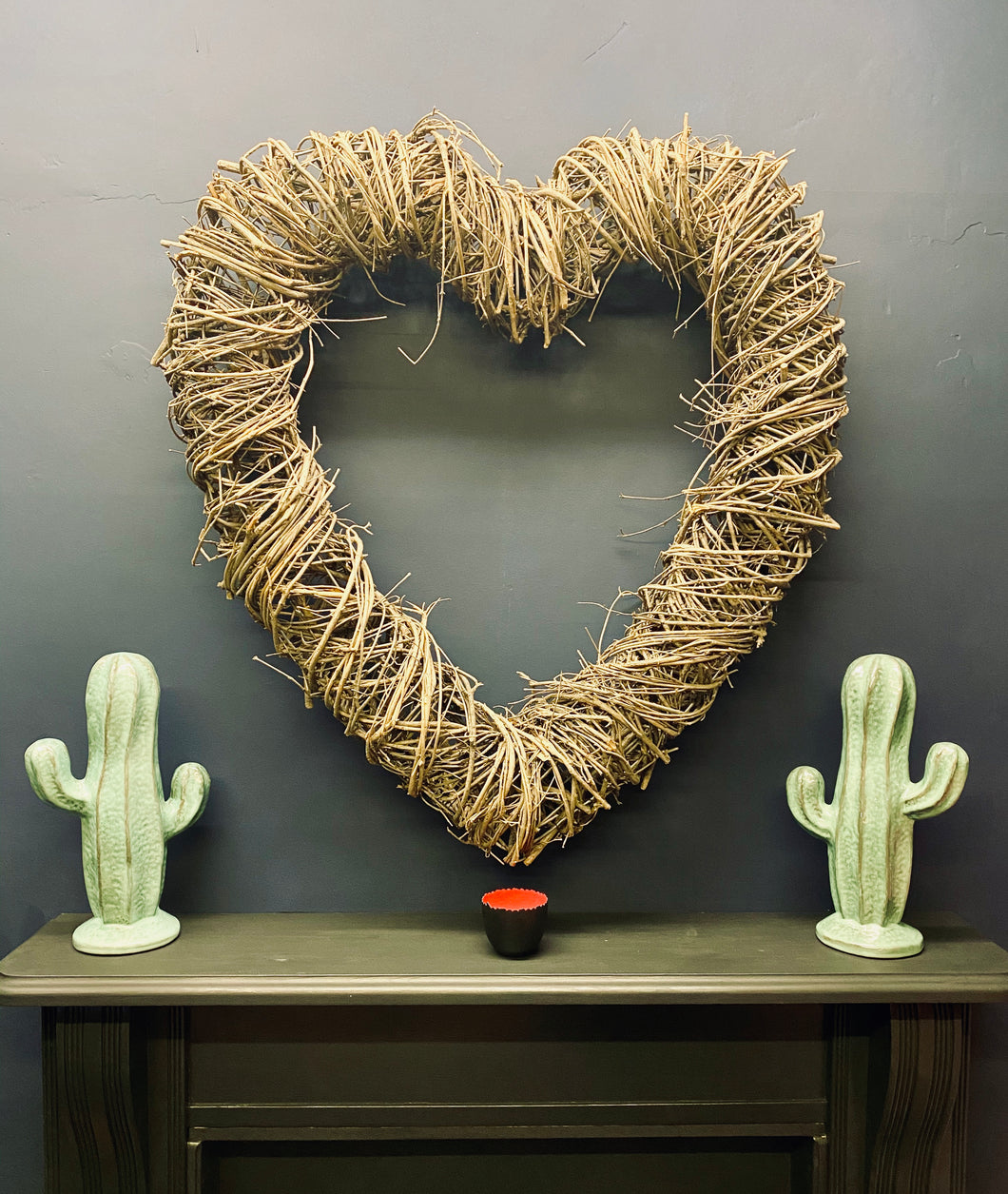 Larger Wicker Heart