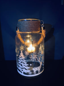 Christmas Hurricane Lamp