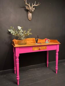Flamboyant Pink Dressing Table