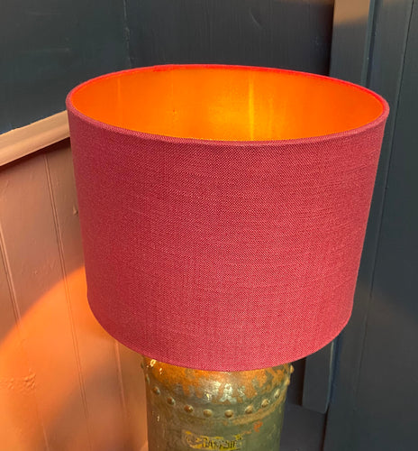 Pink Linen Lampshade