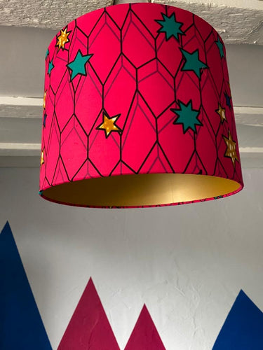 Pink Star Lampshade