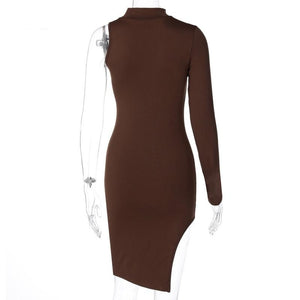 Miss Allure Dress (Brown)