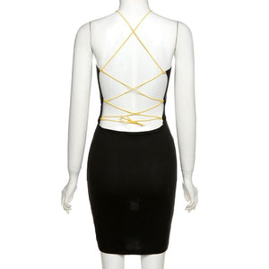 Star Party Dress (Black)