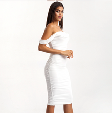 Load image into Gallery viewer, Off Shoulder White Dress
