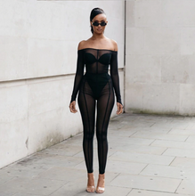 Load image into Gallery viewer, Black Sheer Jumpsuit