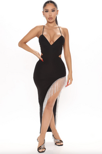 Never Get Over Me Dress (Black)