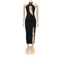 Load image into Gallery viewer, Sierra High Split Dress (Black)