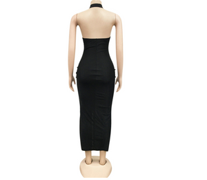 Sierra High Split Dress (Black)