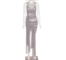 Load image into Gallery viewer, Cali Mesh Dress (Grey)
