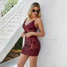 Load image into Gallery viewer, Birthday Sequin Dress