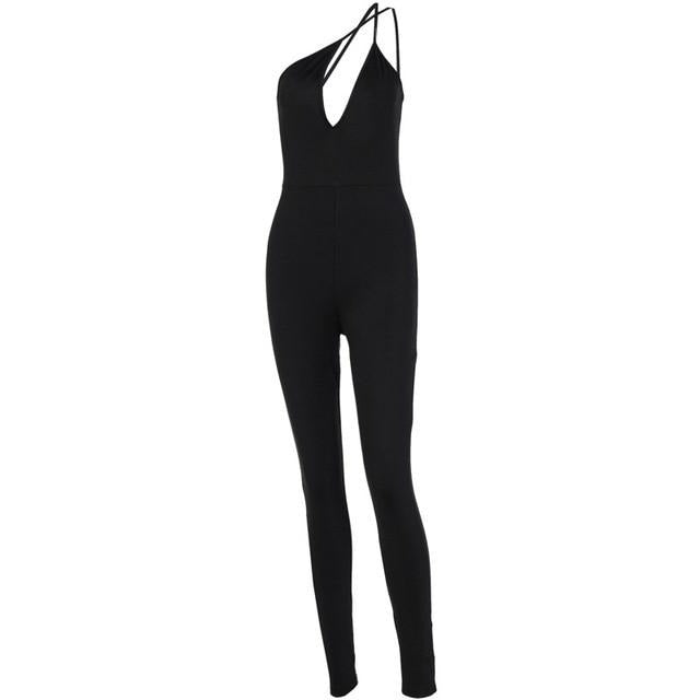 V Bodycon Jumpsuit