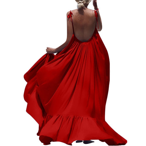 Maxi Summer Dress (Red)