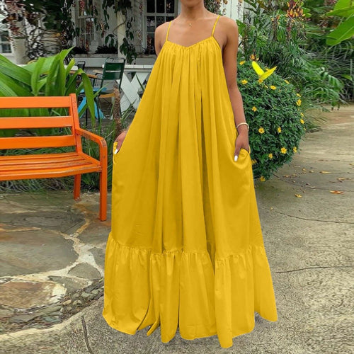 Summer Maxi Dress (Yellow)