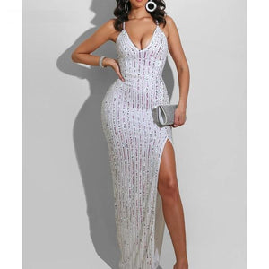 Elena High Split Dress