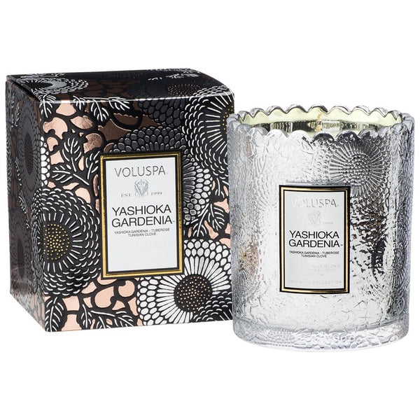 Yashioka Gardenia - Scalloped Edge Candle